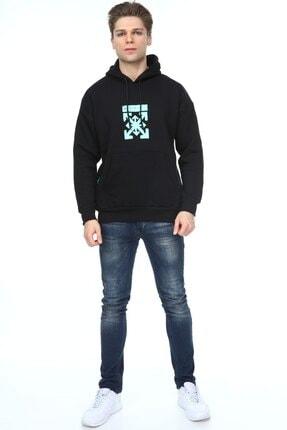 Millionaire Erkek Siyah Oversize Off Baskılı Sweatshirt 4