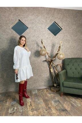 EFKEYEM OFFİCİAL Kadın Beyaz Elbise 2