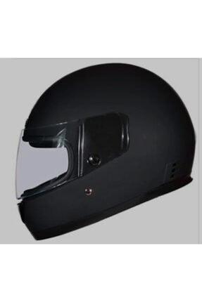 Monero Mat Siyah Renk - Sök Tak Boyun Derili Kalitesinde Tam Kapalı Kask 0