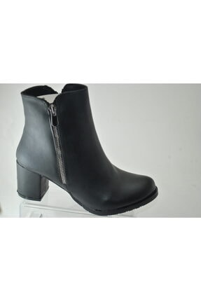BELPİNO Kadın Siyah Topuklu Bot 0