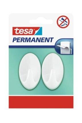 Tesa Permanent Yapışkanlı Askı Oval Büyük Plastik Beyaz (2 Parça) 66603-00000-00 0