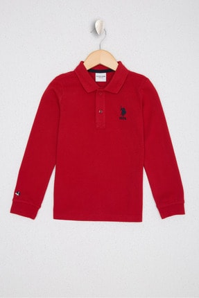 US Polo Assn Kirmizi Erkek Çocuk Sweatshirt 0