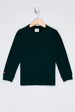 US Polo Assn Yesil Erkek Çocuk Sweatshirt 0