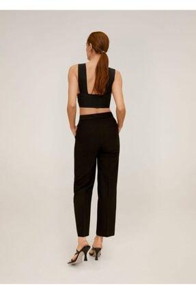Mango Kadın Siyah Pantolon 2