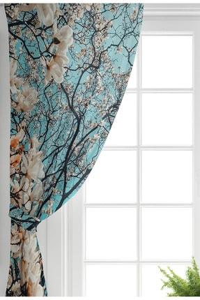 Realhomes Çift Kanat Özel Tasarım Dijtal Baskılı Modern Salon Fon Perdesi 1