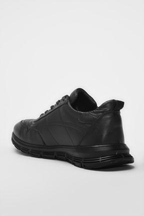 Hotiç Hakiki Deri Siyah Erkek Sneaker 02AYH194460A480 1