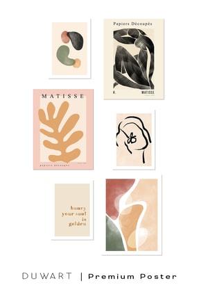 DUWART Premium Çerçevesiz Poster |fall Colors 6'lı Poster Set |21x30 Ve 30x40 Cm |iskandinav Poster 1