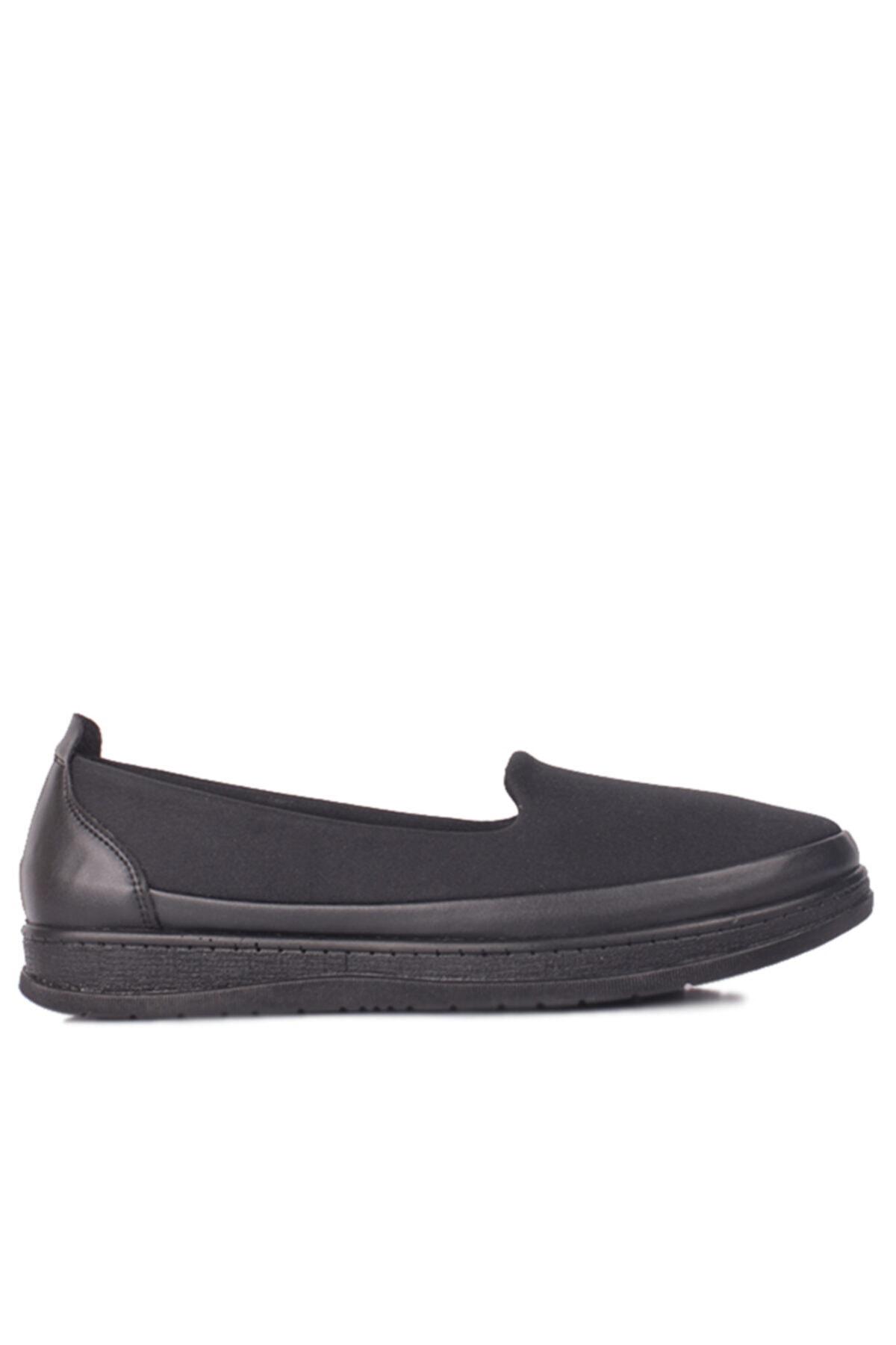 Fitbas Kadın Siyah Günlük Büyük Numara Ayakkabı