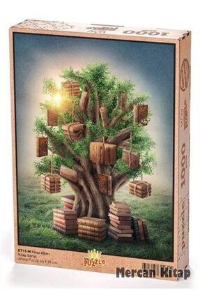King Of Puzzle Kitap Ağacı Ahşap Puzzle 1000 Parça (kt11-m) 0