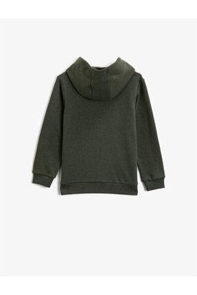 Koton Erkek Çocuk Yeşil Kapüşonlu Sweatshirt 1