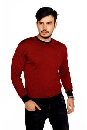 BESSA Erkek Bordo Bisiklet Yaka Mikro Polyester Likralı Sweatshirt 1