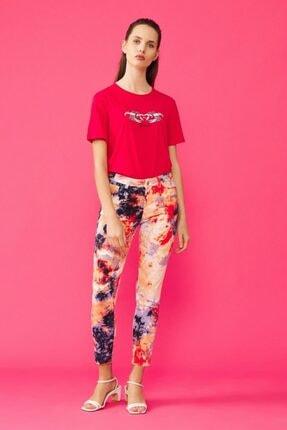 adL Kadın Kırmızı Batik Pantolon 15338765000206 0
