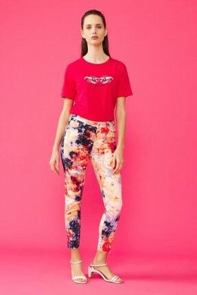 adL Kadın Kırmızı Batik Pantolon 15338765000206 1