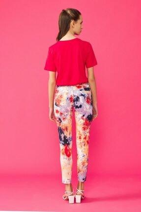 adL Kadın Kırmızı Batik Pantolon 15338765000206 4