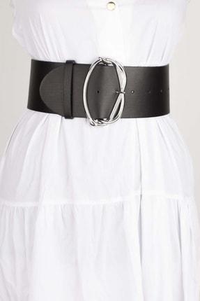 Versla Kadın Siyah Gümüş Tokalı Kemer 0