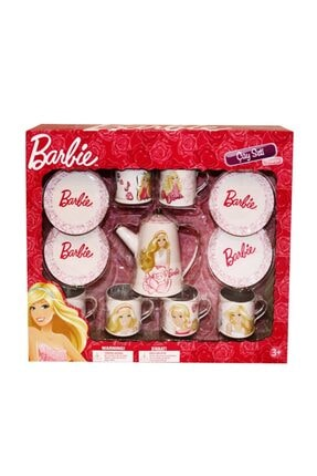 Barbie Çay Seti  Metal 15 Parça Evcilik Seti 0
