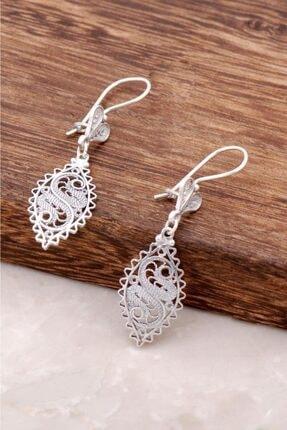 Sümer Telkari Kadın Telkari İşlemeli Antik Tasarım Gümüş Küpe 2586 2