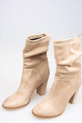 Wenti Shoes Kadın Vizon Süet Topuklu Bot 3
