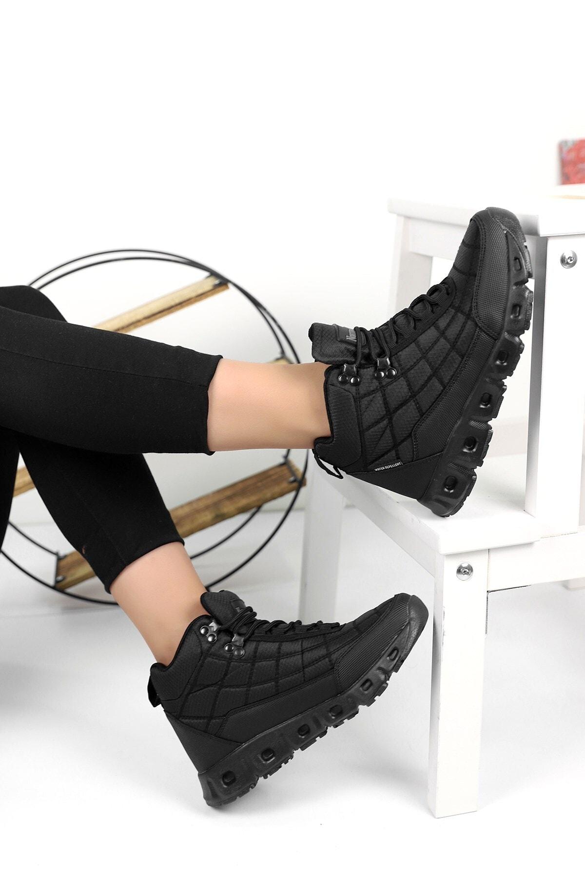 Ayakkabı Fuarı Elit Pantheon Uzun Kadın Siyah Bot
