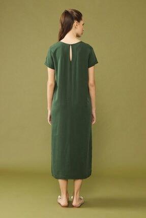 adL Kadın Yeşil Yırtmaçlı Elbise 4