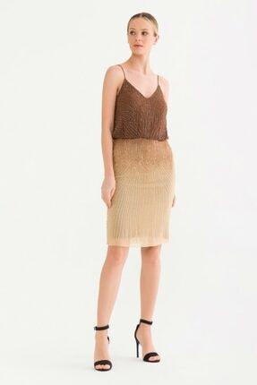 adL Kadın Kahverengi Askılı Elbise 12437898000010 1