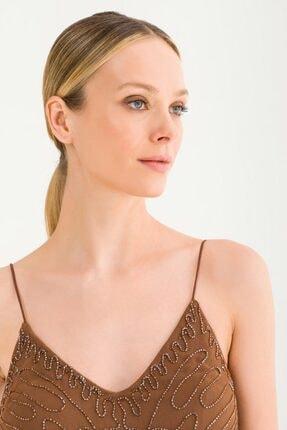 adL Kadın Kahverengi Askılı Elbise 12437898000010 3