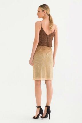 adL Kadın Kahverengi Askılı Elbise 12437898000010 4