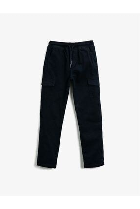 Picture of 21kkb46570ow Erkek Çocuk Kanvas Pantolon Siyah