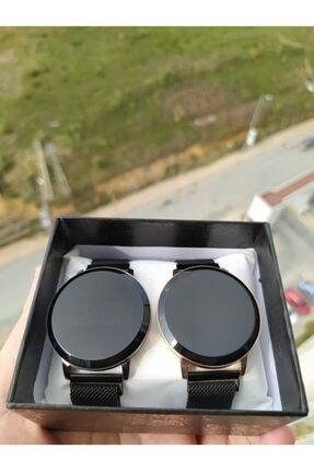 Unisex Siyah Sevgili Saatleri Çift Kombin Mıknatıslı Dokunmatik Led Kol Saatleri STOR-CİFT-DJTL-LED001
