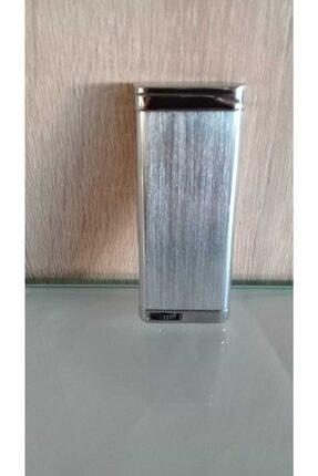 Zenit Çakmak Gümüş Metal Manyetörlü Rüzgarda Yanan Çakmak 0