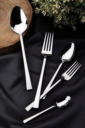 Queen's Kitchen 30 Parça Lüx Çelik Çatal Kaşık Takımı 0