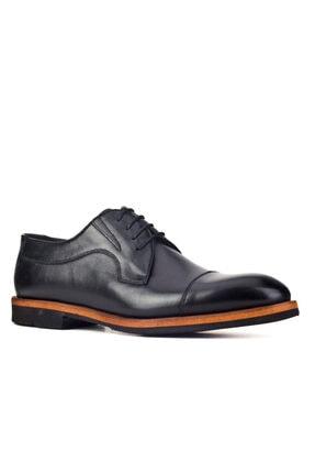 Cabani Erkek Siyah Klasik Antik Deri Ayakkabı 0