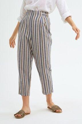 adL Kadın Camel Pileli Keten Pantolon 2