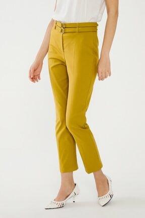 adL Kadın Lime Çift Kuşaklı Pantolon 1