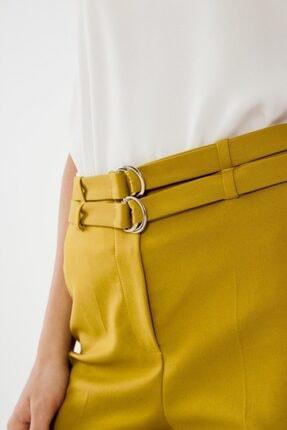 adL Kadın Lime Çift Kuşaklı Pantolon 2
