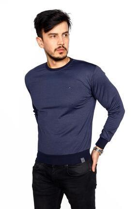 BESSA Erkek Indigo Bisiklet Yaka Mikro Polyester Likralı  Sweatshirt 1