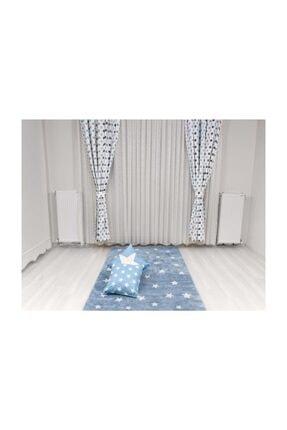 Odeon Mavi Gri Yıldızlı Çocuk Odası Fon Perde (2 Kanat) 3