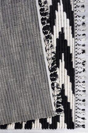 Kuga Halı Butik Siyah Beyaz Dokuma Post Halı 2733 2