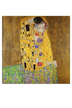 Nazenin Design Gustav Klımt The Kiss Öpücük Dev Boyut Kanvas Tablo 140x140 cm 1