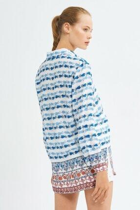 adL Kadın Mavi Uzun Kollu Gömlek 3