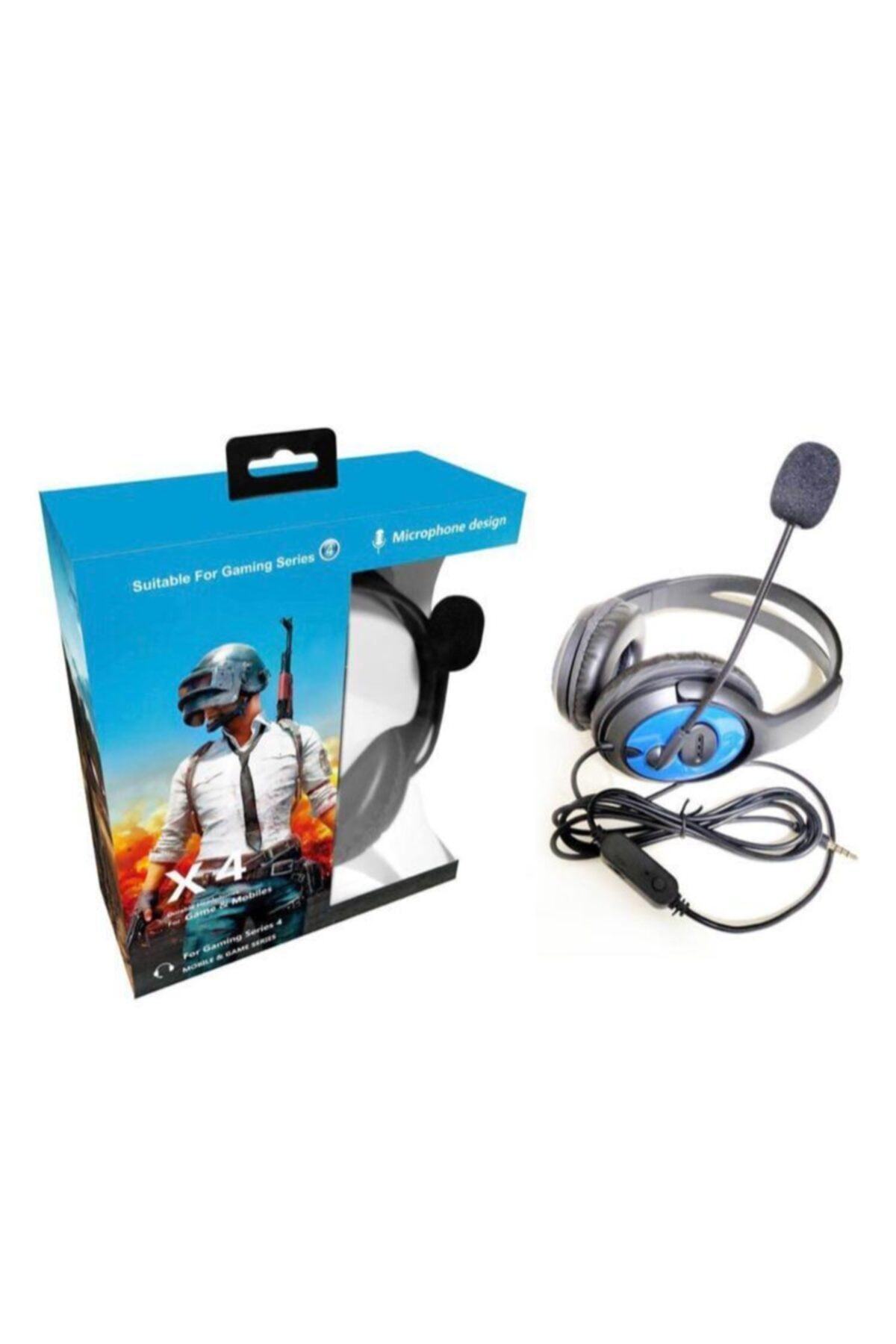 Oyuncu Mikrofonlu Kablolu Kulaklık