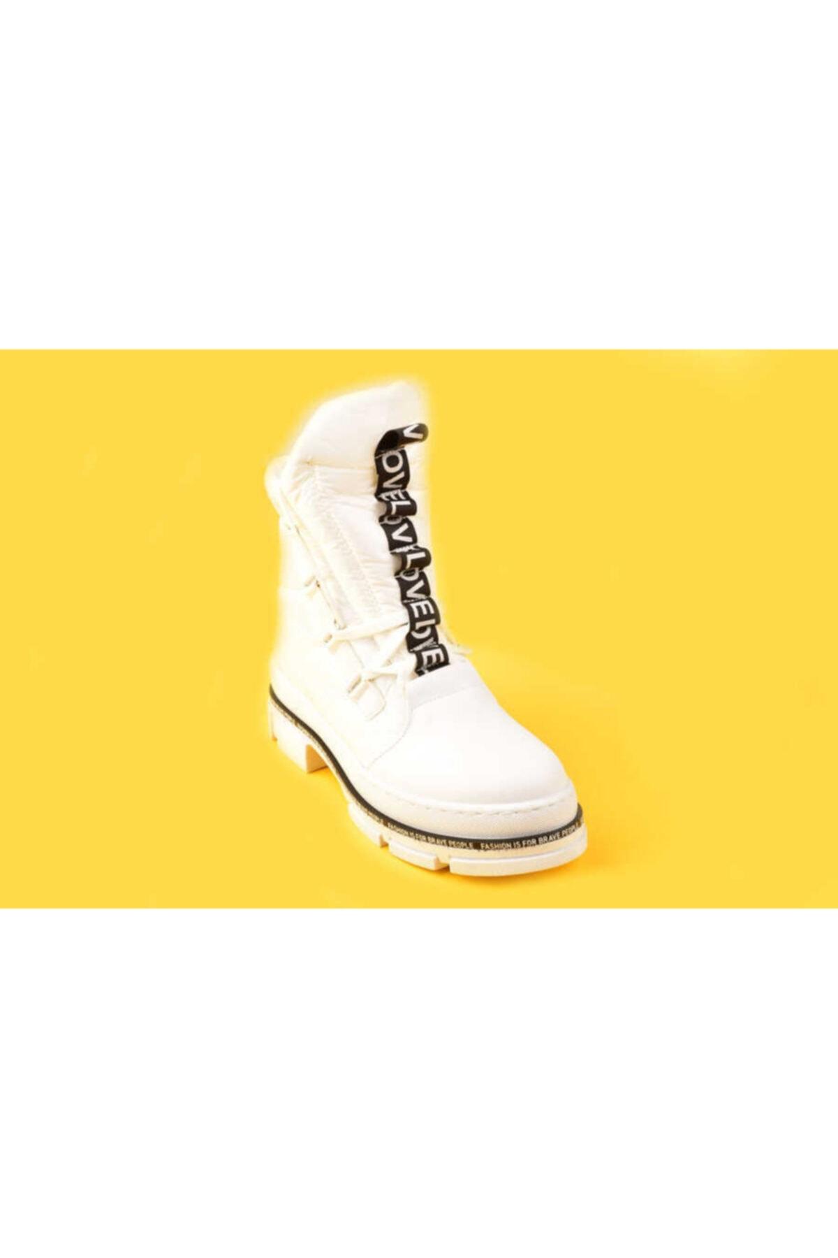 Mexelina Kadın Beyaz Bot 3547-20k
