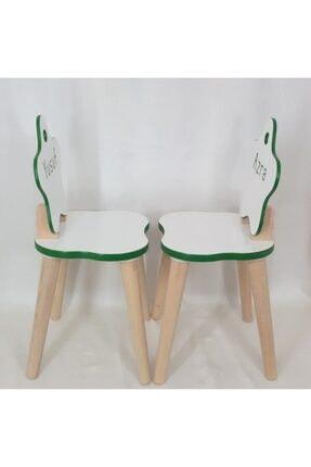 All dizayn Çocuk Masa Ve Sandalye Takımı, 1 Yuvarlak Masa - 2 Yıldız Sandalye 4