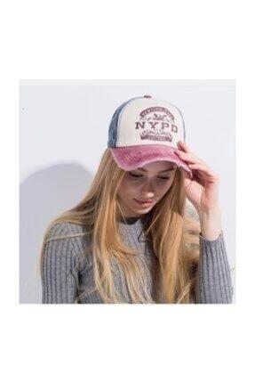 Cosswell Unisex Pembe Eskitme Tasarım Şapka 0