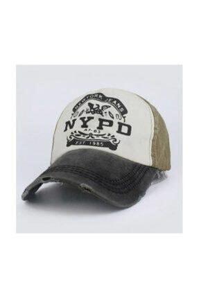 Cosswell Unisex Haki Yeşil Eskitme Tasarım Şapka 0