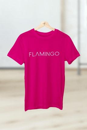 Flamingo Butik Kadın Fuşya Justflamingo Tshirt 1