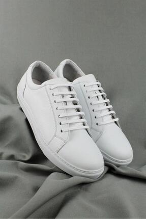 CZ London Erkek Beyaz Hakiki Deri Sneaker Spor Ayakkabı 1
