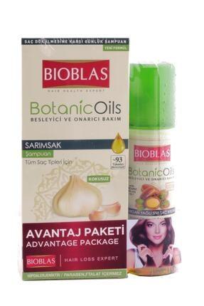 Bioblas Botanic Oils Şampuan Sarımsak 360ml+argan Sıvı Saç Kremi 200ml 0