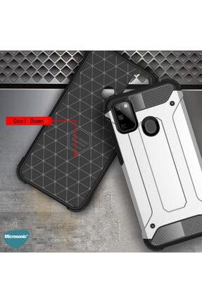 Microsonic Microsonic Galaxy M21 Kılıf Rugged Armor Kırmızı 4