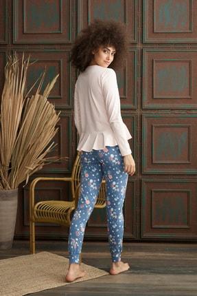 İPEKTENİM Kadın Pembe Fırfırlı Pijama Takım 1